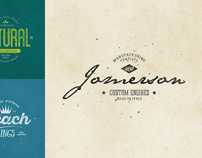 Retro Logo Templates V.07