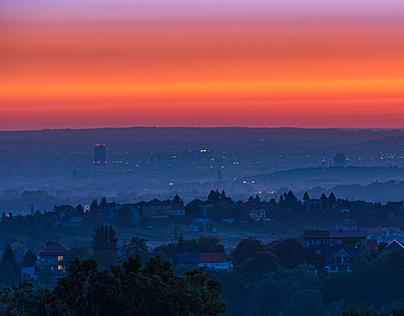 Top views of Krakow