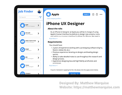 Daily UI 050 :: Job Listing