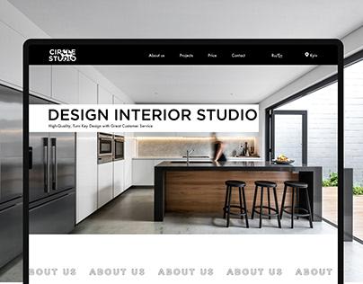 Circle studio / Landing Page for design interior studio