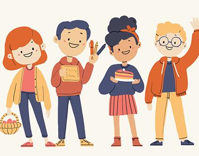 Easter - Children illustration