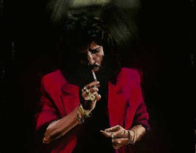 José Monge fumando