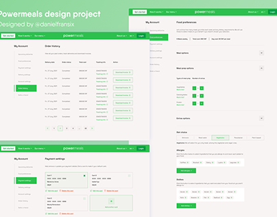 Powermeals ui/ux design project