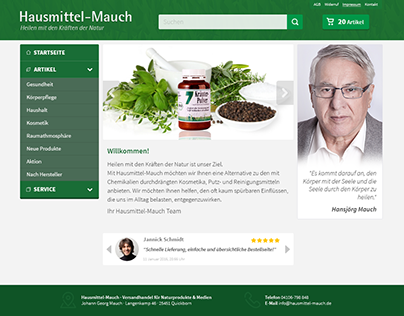"""Redesign for """"Hausmittel-Mauch"""""""