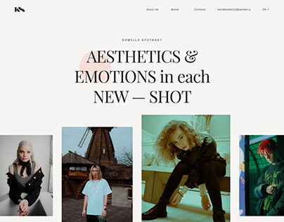 KS — Portfolio Website for Photographer
