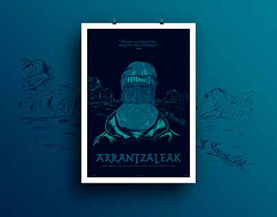 Arrantzaleak - Tribute Poster to the Basque fishermens