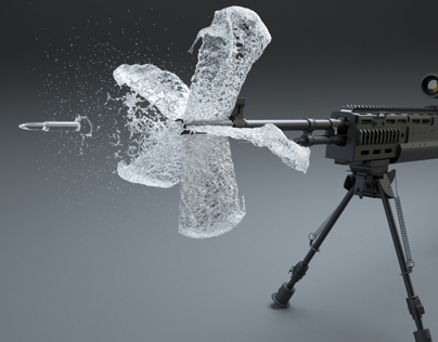 Water Muzzle Flash (Water 3D Animation)