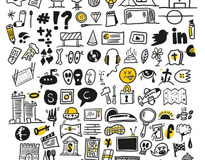 100 Icons - FREE DOWNLOAD SET