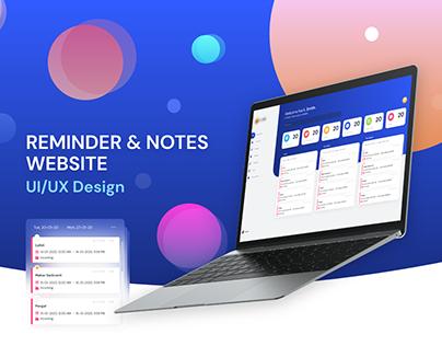 Reminder and Notes Website