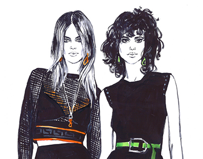 Fashion illustration. Part 12.