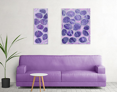 Acrylic painting for home decor