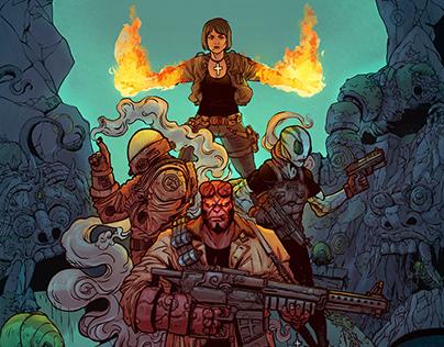 Hellboy in rangda Cave