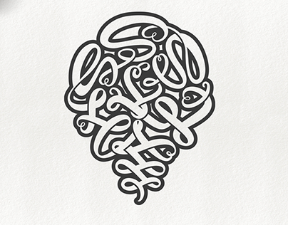 Hand lettering concept for family tattoo design.