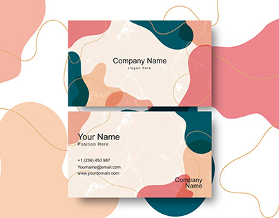 Creative abstract modern corporate business card design