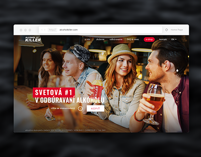 Alcohol Killer no. 1. DETOX webdesign & webdevelopment