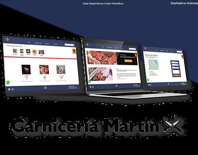 Carnicería Martín Web UX | UI