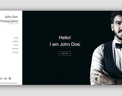 Photographer Portfolio Web Template