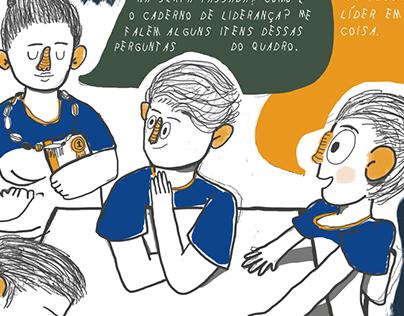 Quadrinhos: Os sete Hábitos em sala de aula - ENOM