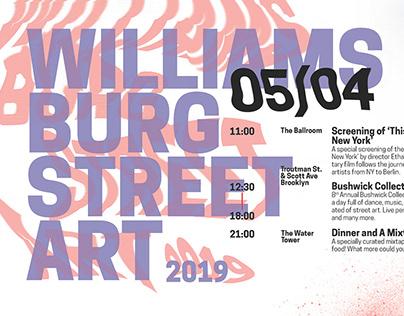Williamsburg Street Art Event Calendar/Map