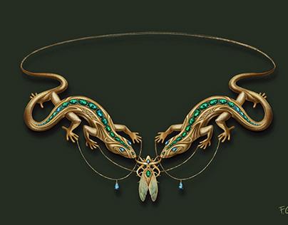 Lizard Necklace Design
