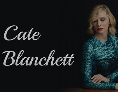 Cate Blanchett' website concept