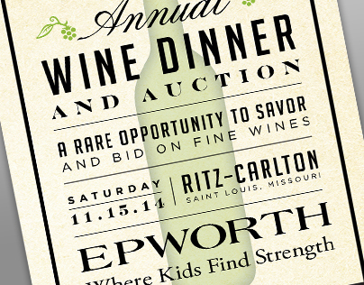 Epworth 2014 Wine Dinner and Auction