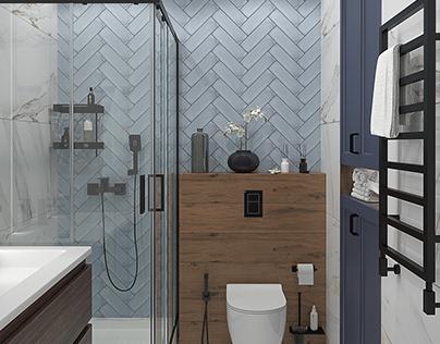 Визуализация санузла / Visualization of the bathroom