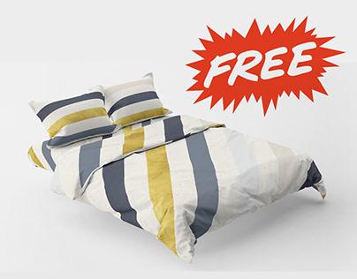 Free Bedding Mockup