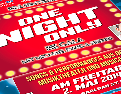 Plakat für Musiktheater und Musical