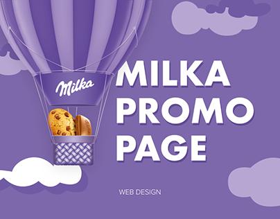 Milka promo page