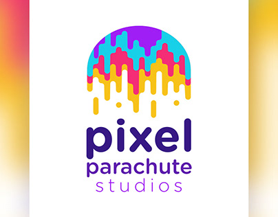 Pixel Parachute Logo