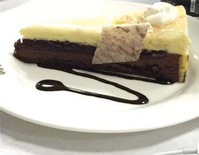 Chocolate & Vanilla Cheesecake