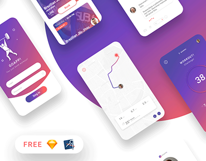 FREE UI/UX Kit - GoApp