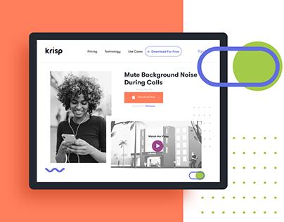 Krisp Website and Branding https://krisp.ai