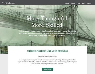 Verit Advisors Website Design