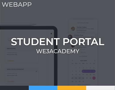 WE3 Academy Student Portal Web app Design