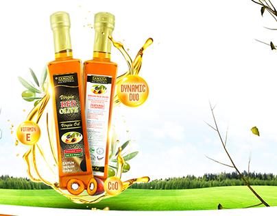 Virgin Red Olive Oil Advertisement Design