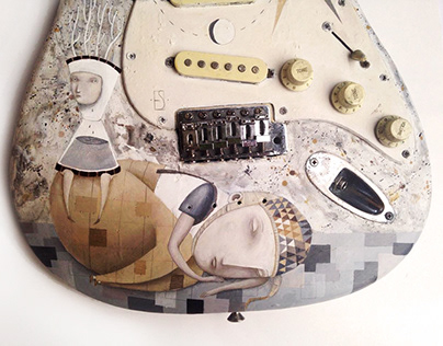 Illustrations on guitars