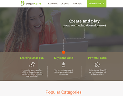 Sugarcane home page design