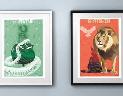 Fan Art Harry Potter Gryffondor et Serpentard