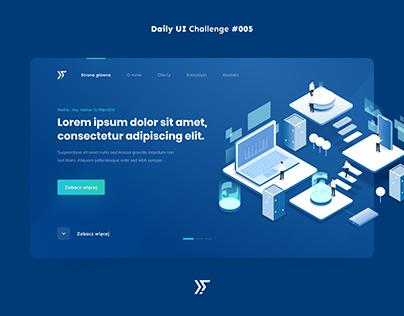 Dailu UI #005 - Landing Page