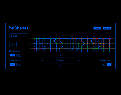 fretShapes - musical web app
