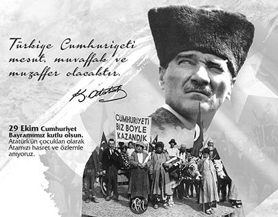 29 Ekim Cumhuriyet Bayramı Poster