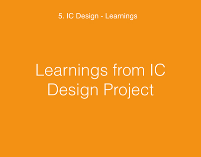 Learnings from IC Design Project