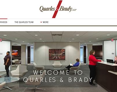 Quarles & Brady Website Design