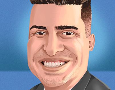 Dep. Humberto Teófilo - caricature