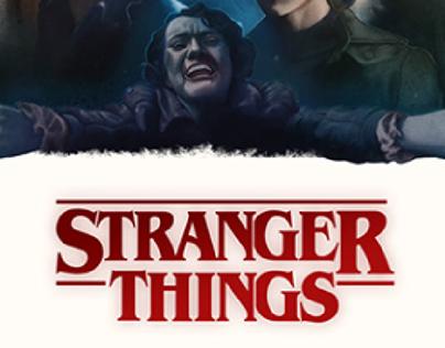 Stranger Things, season 1. Alternative poster design.
