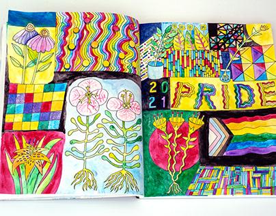 Pride 2021 Sketchbook paintings