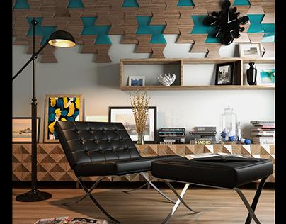 Arch VIZ Interior Living Room