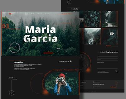 Photographer Maria Garcia | Website homepage design